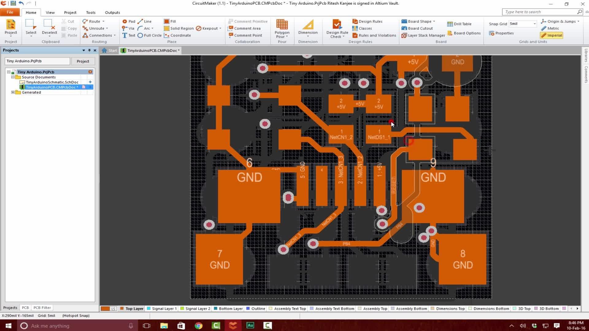 PCB Design a Tiny Arduino In Altium CircuitMaker Ritesh Kanjee