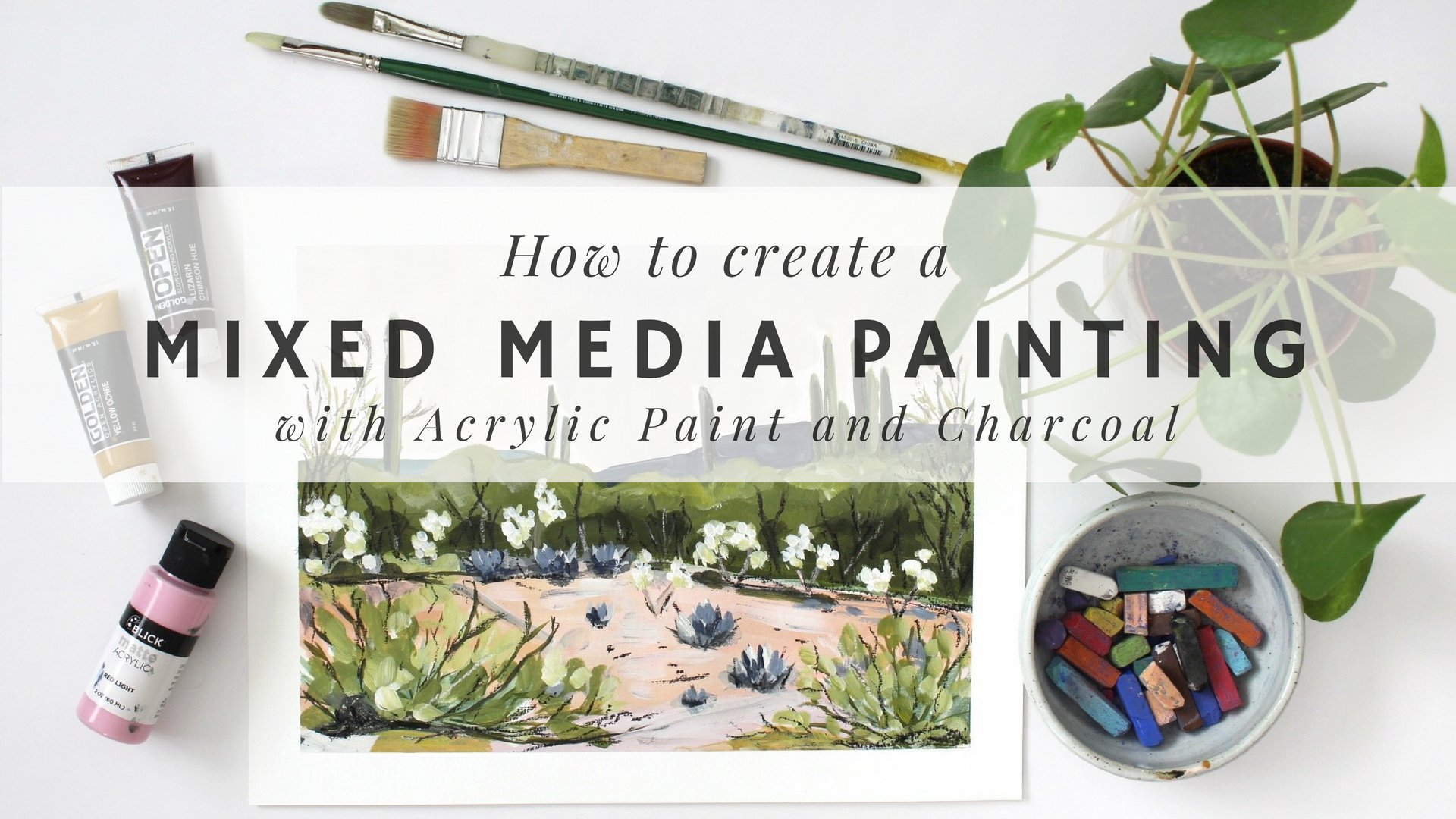 Acrylic Painting: How To Create A Mixed Media Painting