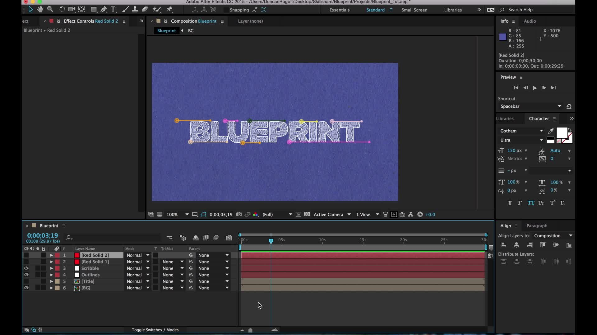 Intermediate after effects blueprint logo reveal duncan rogoff intermediate after effects blueprint logo reveal duncan rogoff skillshare malvernweather Image collections