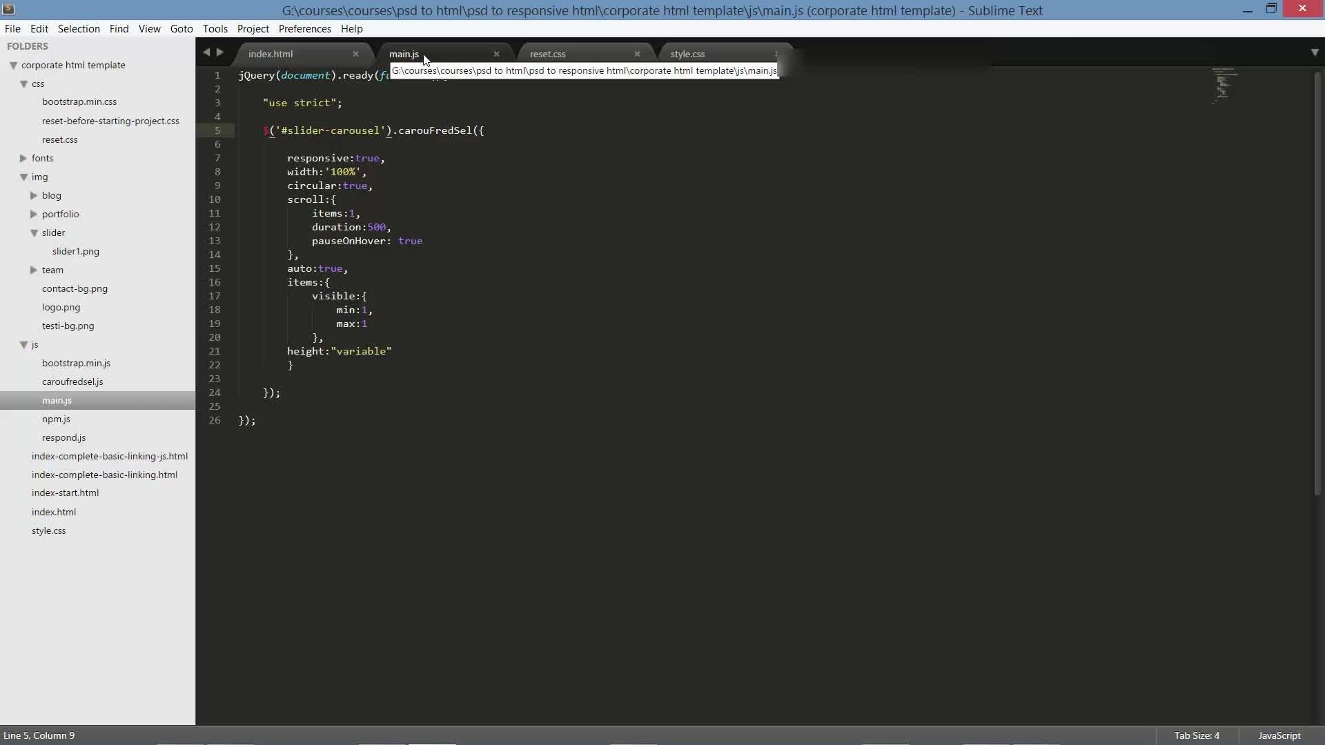 Learn PSD to Responsive Parallax HTML/CSS Web Design | Supriyo Kundu ...