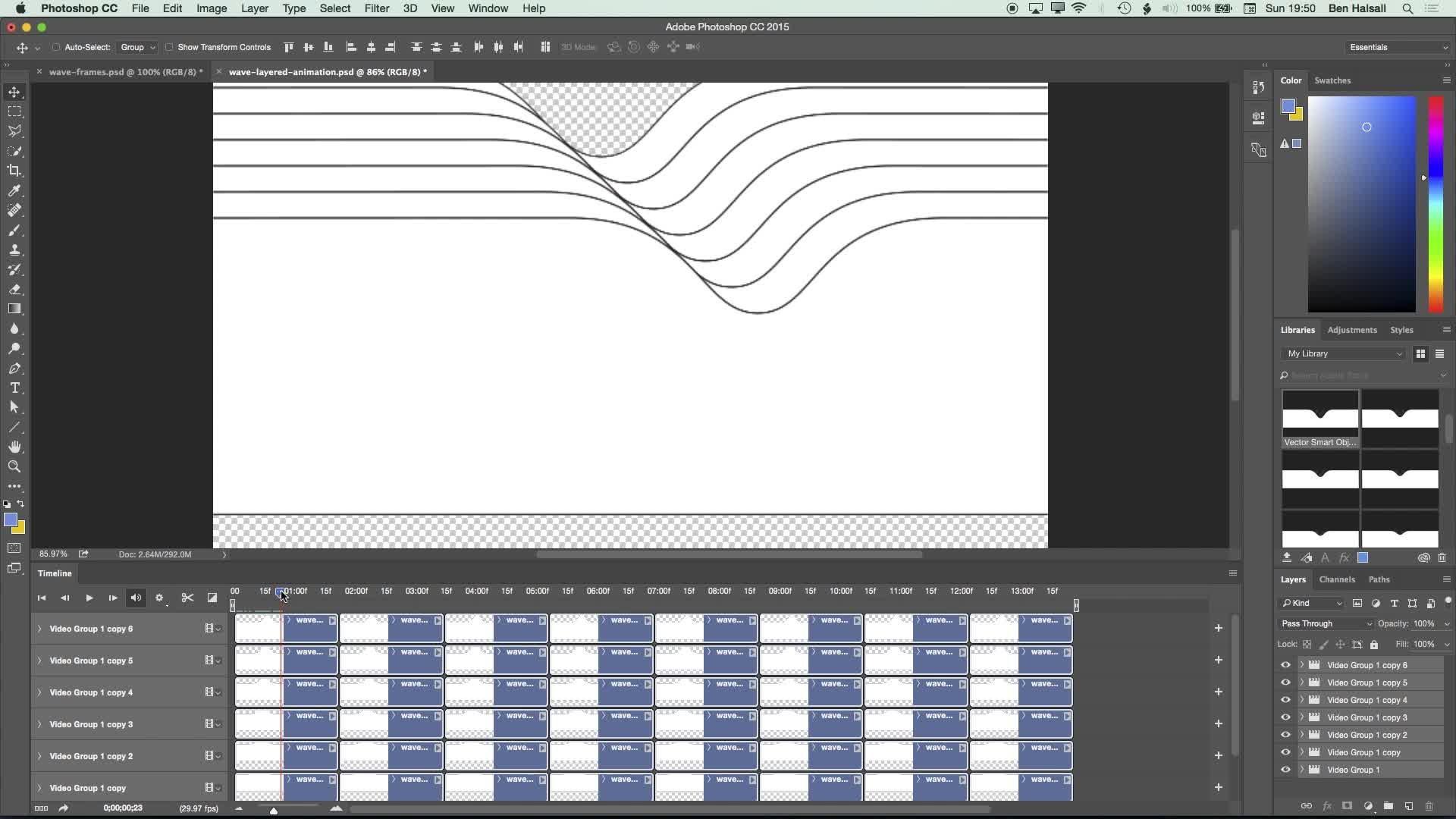 Illustrator & Photoshop: Create a Looping Wave Animation
