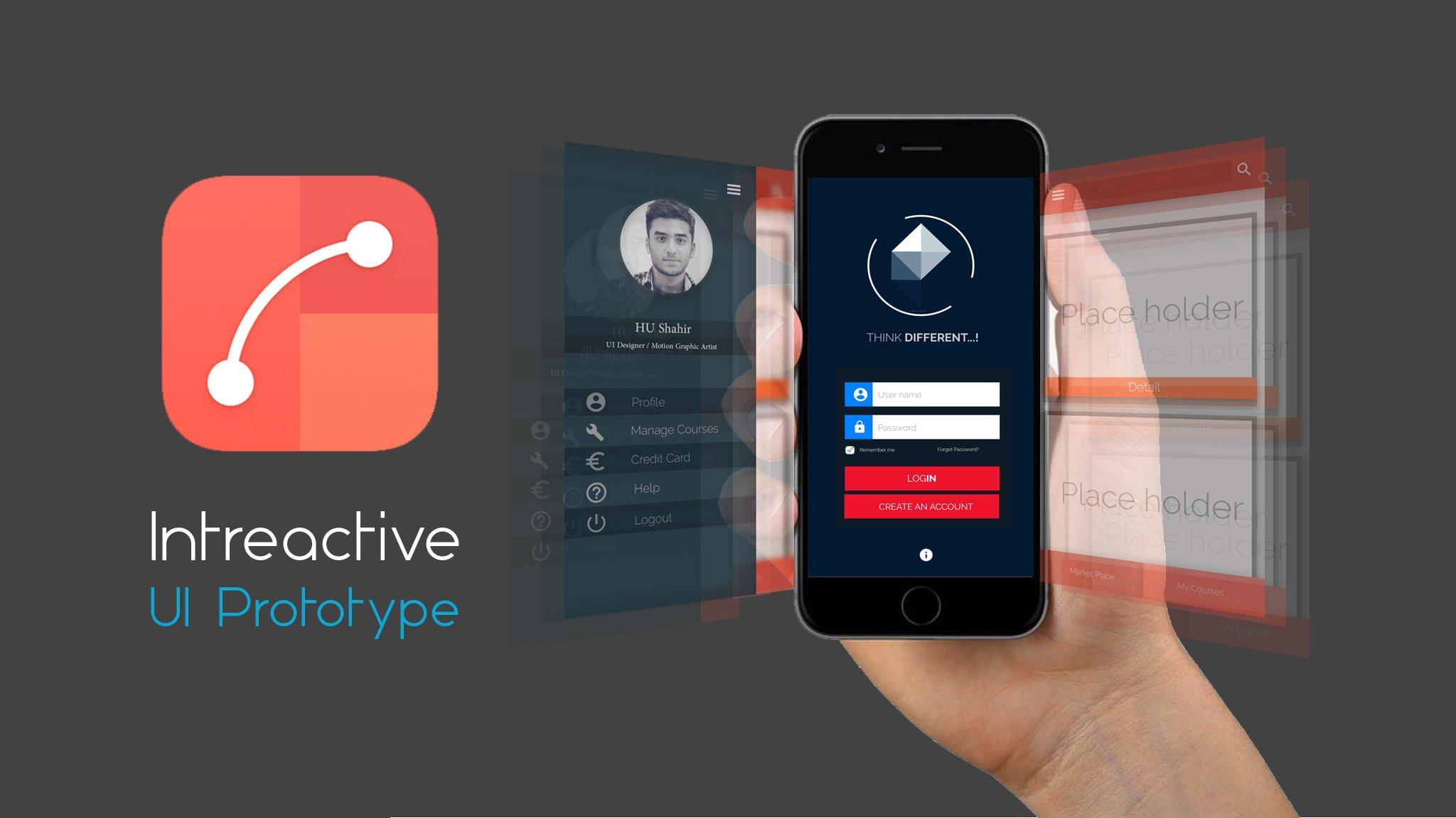 Interactive  UI Prototype with Flinto
