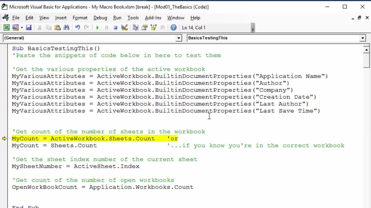 Workbooks excel macro workbooks open : Microsoft Excel Essentials: Level 3 - VBA Programming - Unleash ...