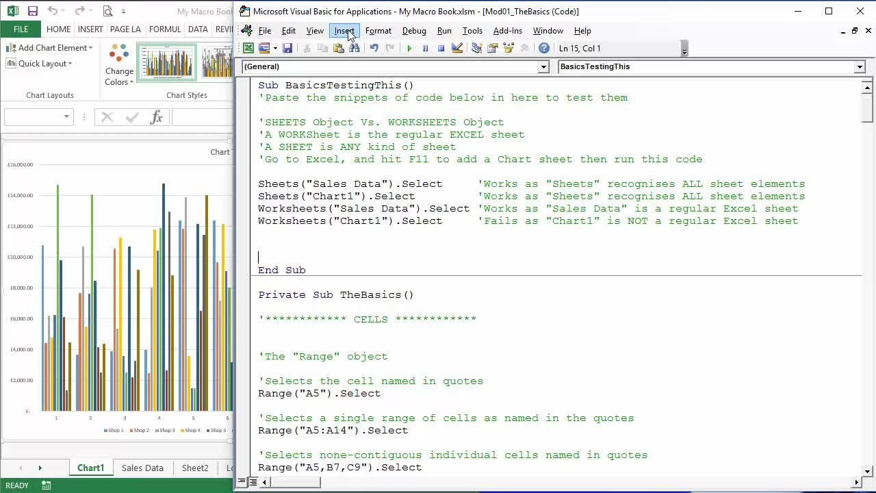 worksheet Vba Activate Worksheet microsoft excel essentials level 3 vba programming unleash the full power of with alan jarvis skillshare
