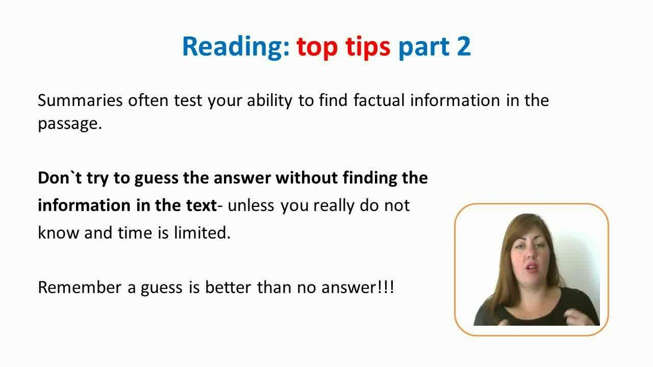 The IELTS: Writing, Reading, Speaking, Listening Top Tips | IDEA