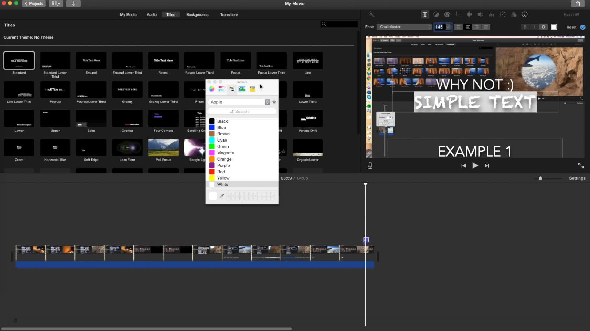 Create Professional Videos With iMovie 2016: Part 5: Add