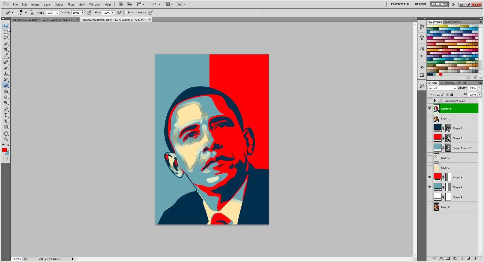 Photoshop: Obama HOPE POSTER | Ychel Yap | Skillshare