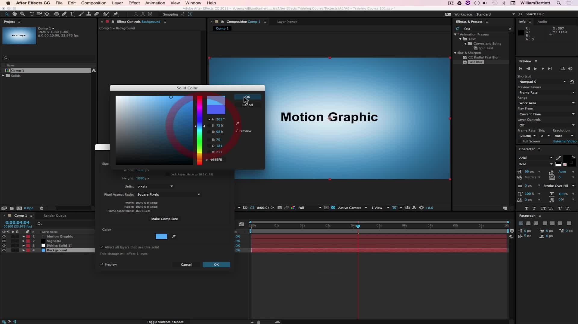 Adobe After Effects CC For Beginners: Learn After Effects CC   Will