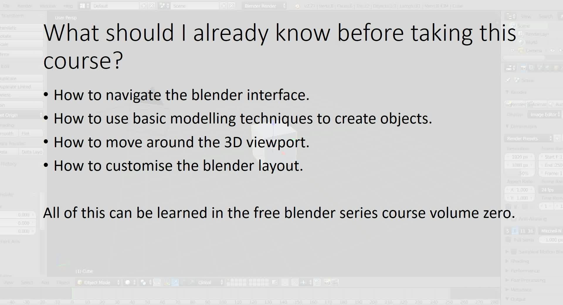Blender 3D Animations series - Volume One