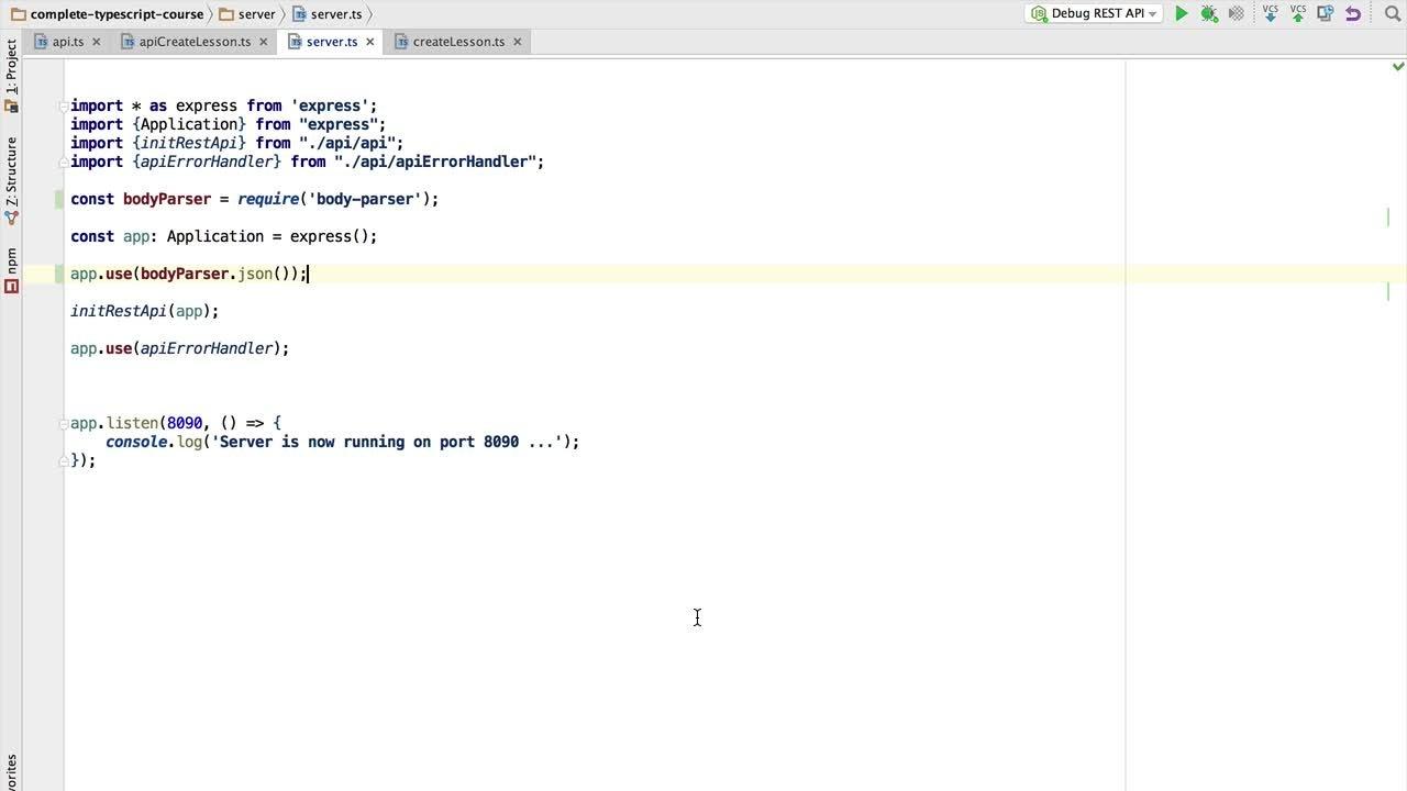 Typescript Masterclass Part 4 - Build a REST API In Node using