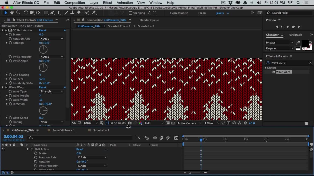 The Knit Sweater Look In After Effects Jake Bartlett Skillshare