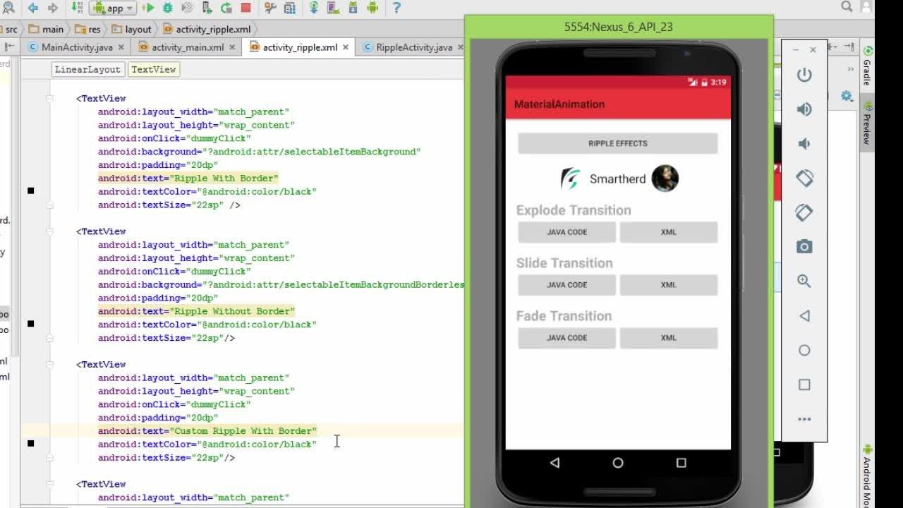 Android Material Design Animation | Annapurna Agrawal | Skillshare