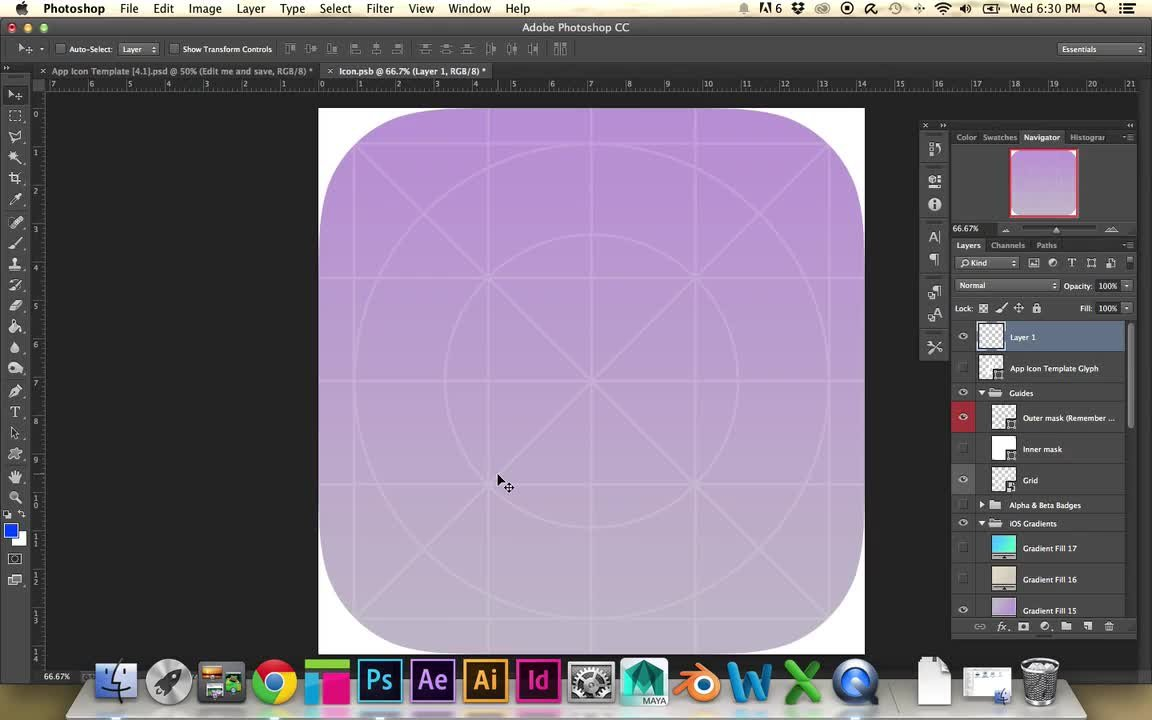 Introduction to Photoshop: Design a Mobile App Icon | Joanna Ngai ...