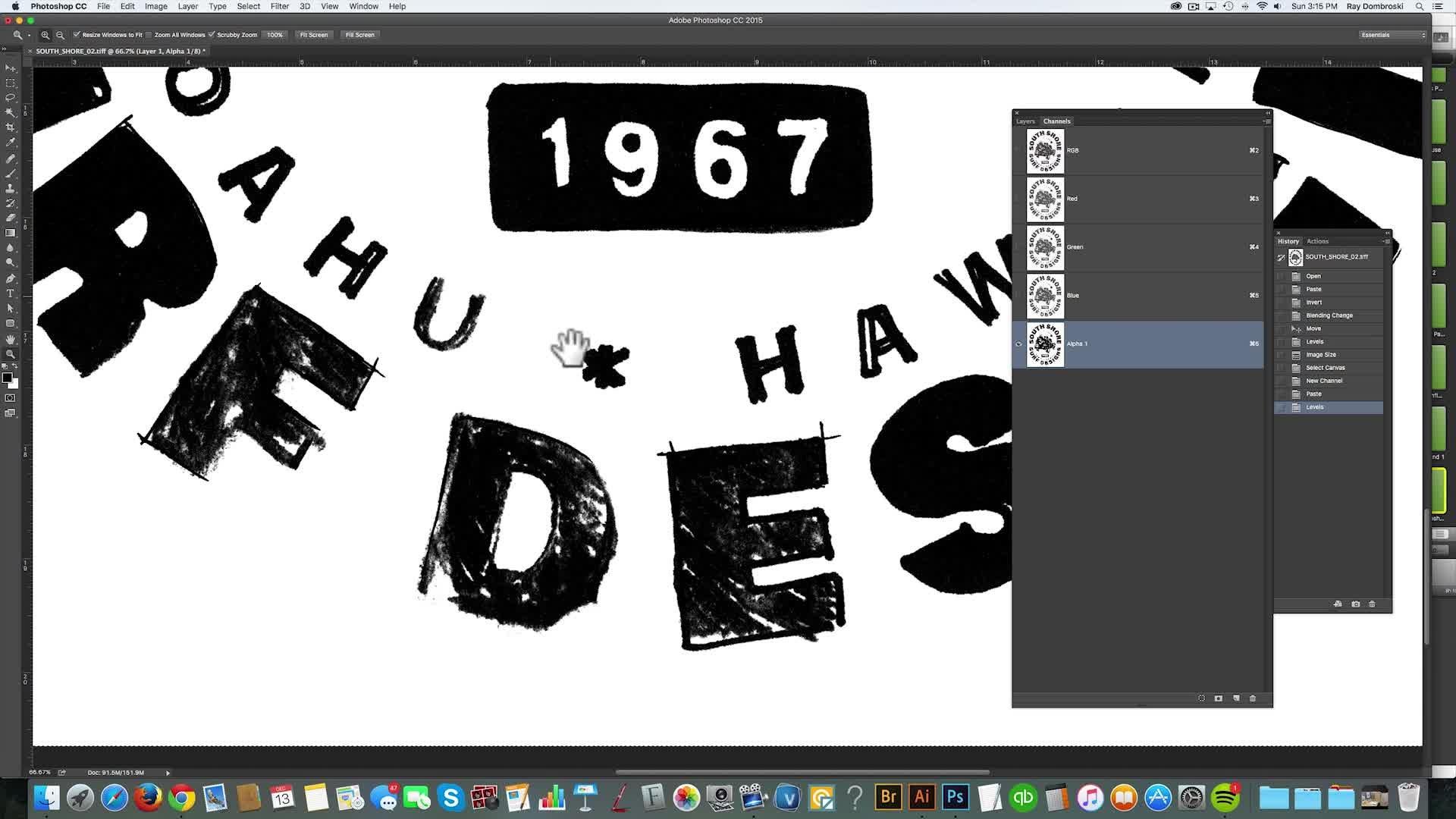 T-Shirt Design Workshop 02: Using Photoshop, Illustrator, and Hand