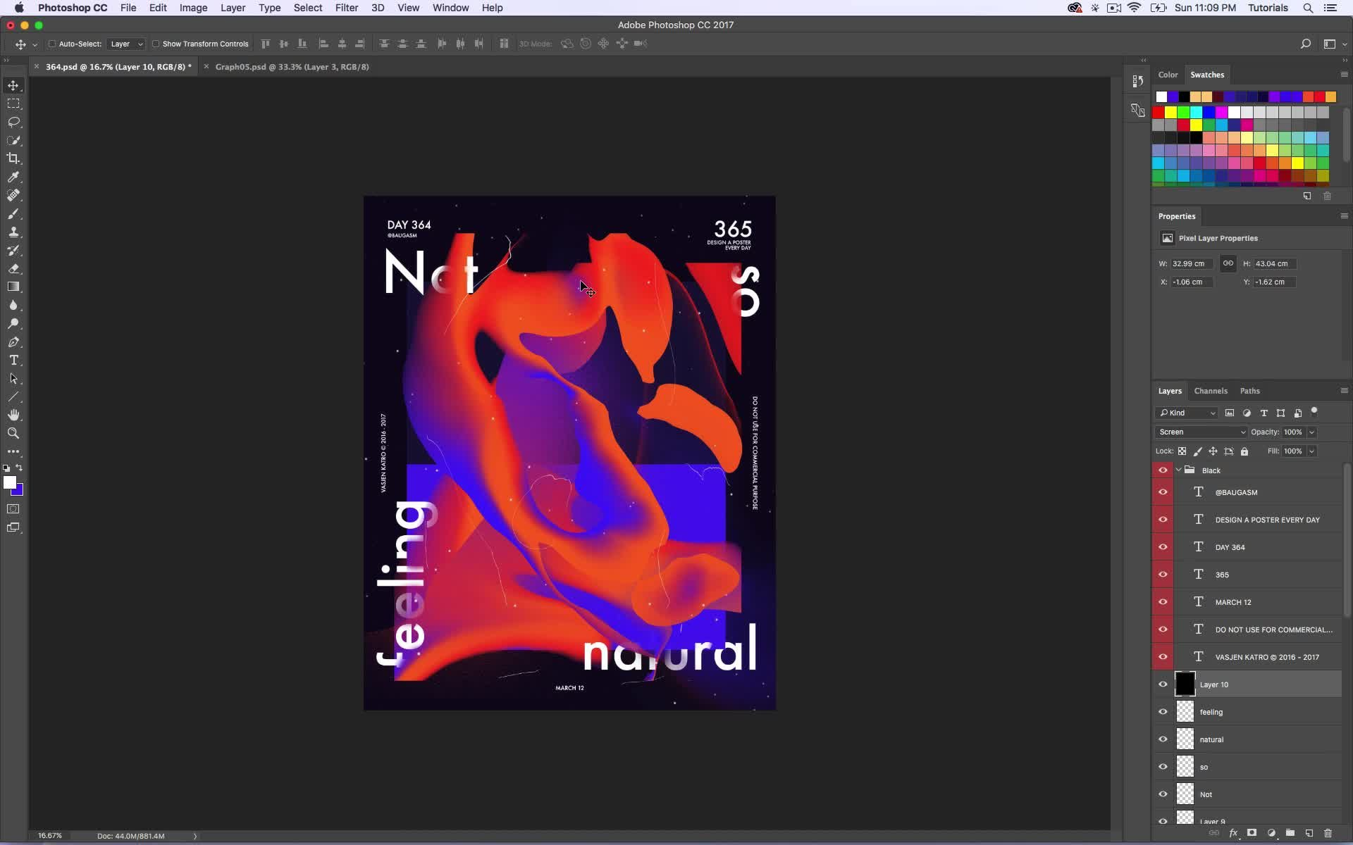 E poster design software - Baugasm Series 7 Design An Abstract Poster With Liquid Effect In Photoshop Vasjen Katro Skillshare
