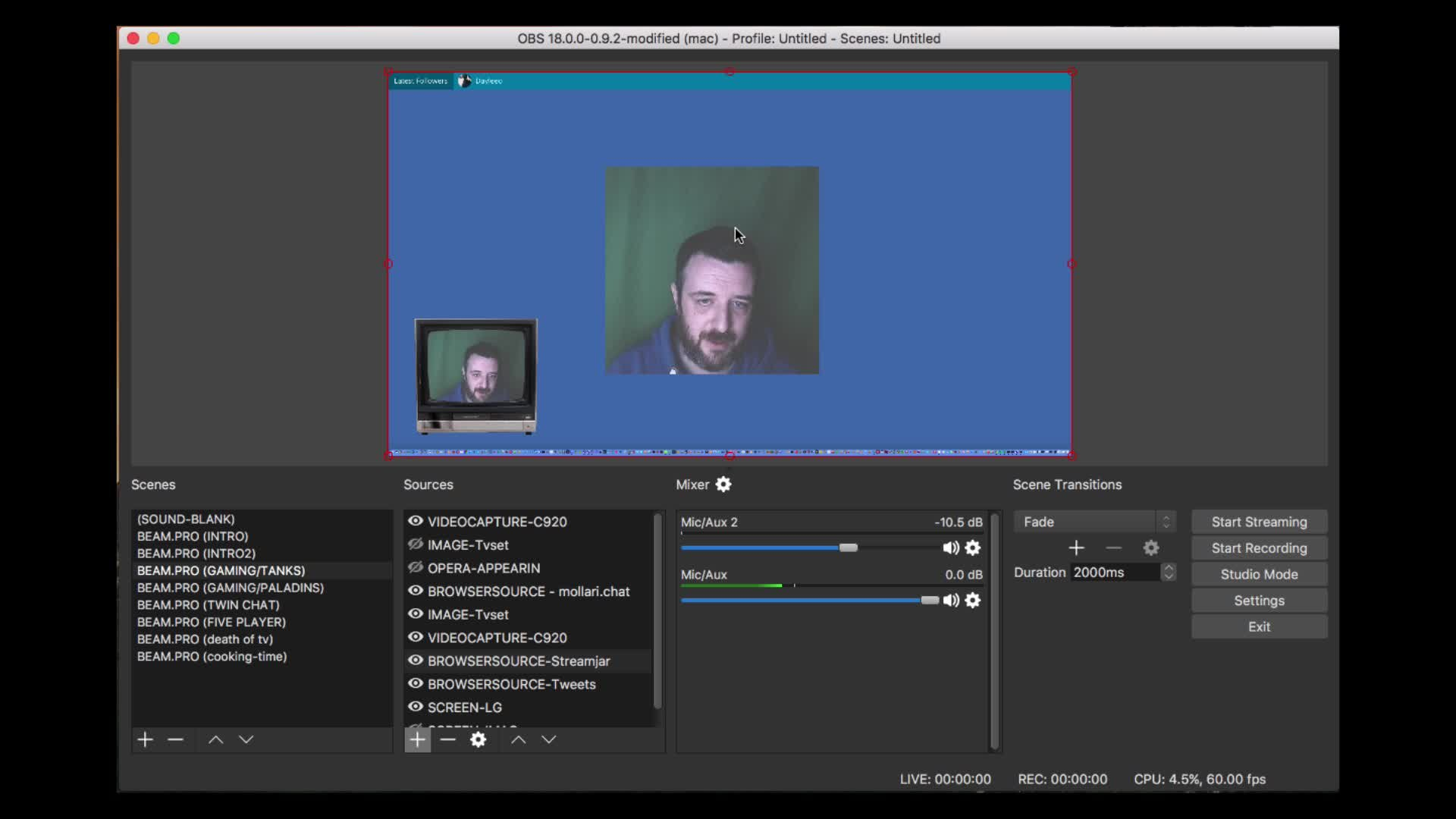 Setting up for Live Streaming Video using OBS Studio | Philip 'dm