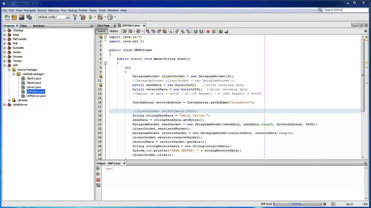 Udp File Transfer Java Example