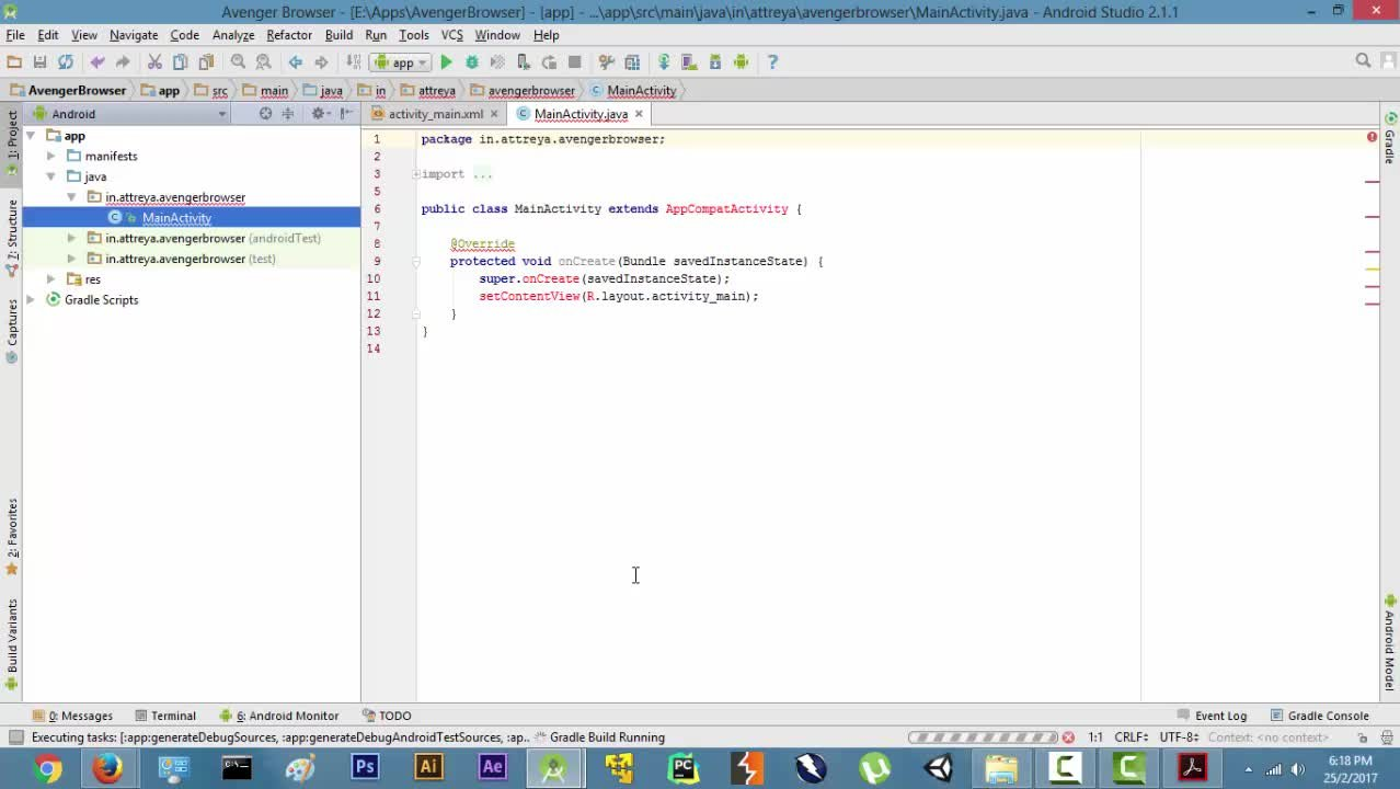 Introduction to Android Development : Build a Web Browser