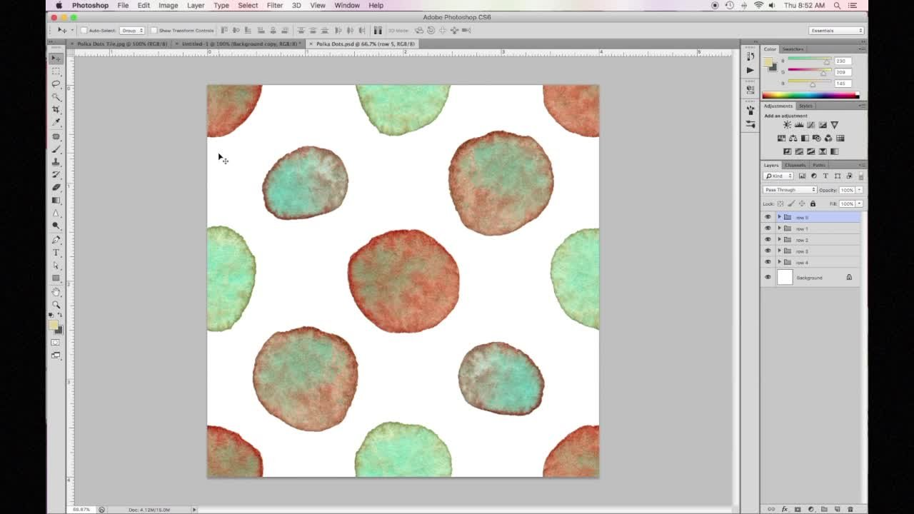 Use Your Watercolors to Create Simple Repeat Patterns in