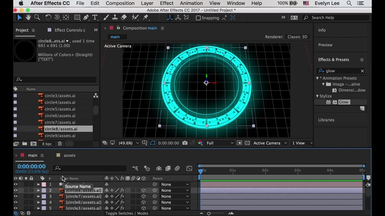 Hud Interface Animation In After Effects And Illustrator (2 Of 4) Evelyn  Lee Skillshare Adding Effects To A Clip How To Edit