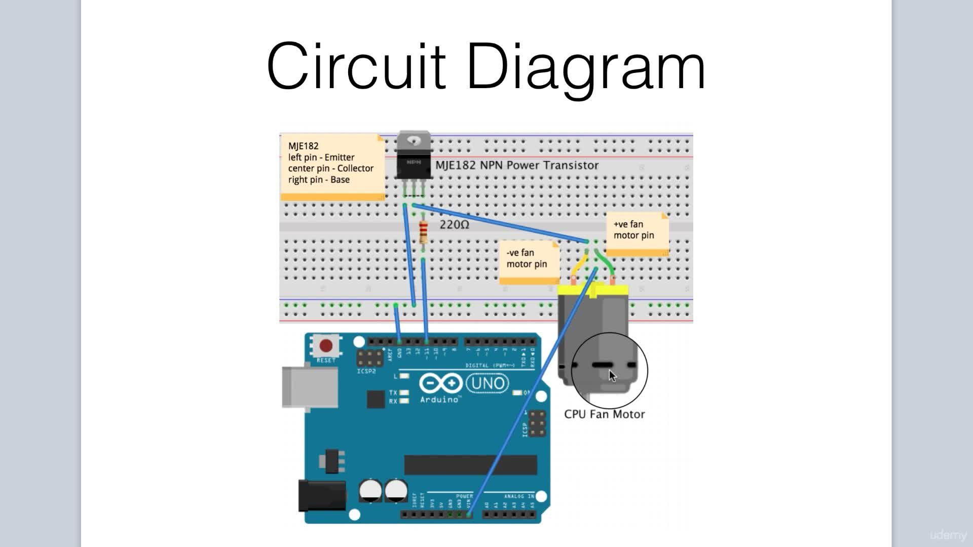 Arduino Bootcamp Projects Controlling A Cpu Fan With Keyboard 12v Computer Wiring Diagram Input Part 1 Lee Assam Skillshare