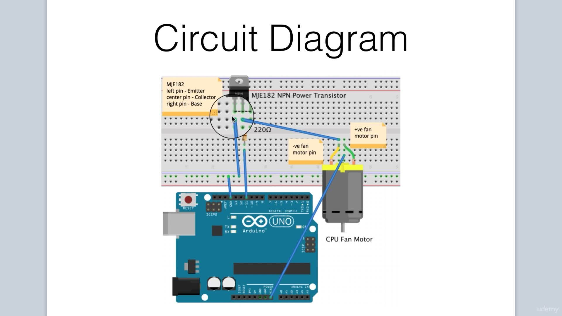 Arduino Bootcamp Projects Controlling A Cpu Fan With Keyboard Circuit Diagram Input Part 1 Lee Assam Skillshare