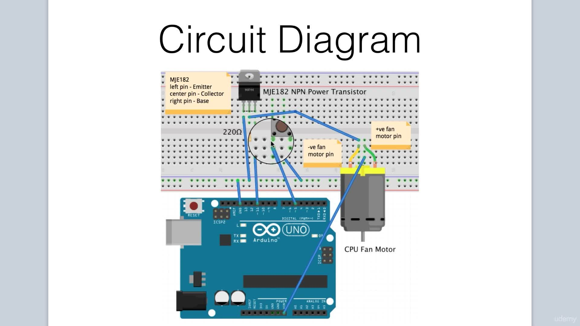 Arduino Bootcamp Projects Controlling A Cpu Fan With Button Circuit Diagram Of Part 2 Lee Assam Skillshare
