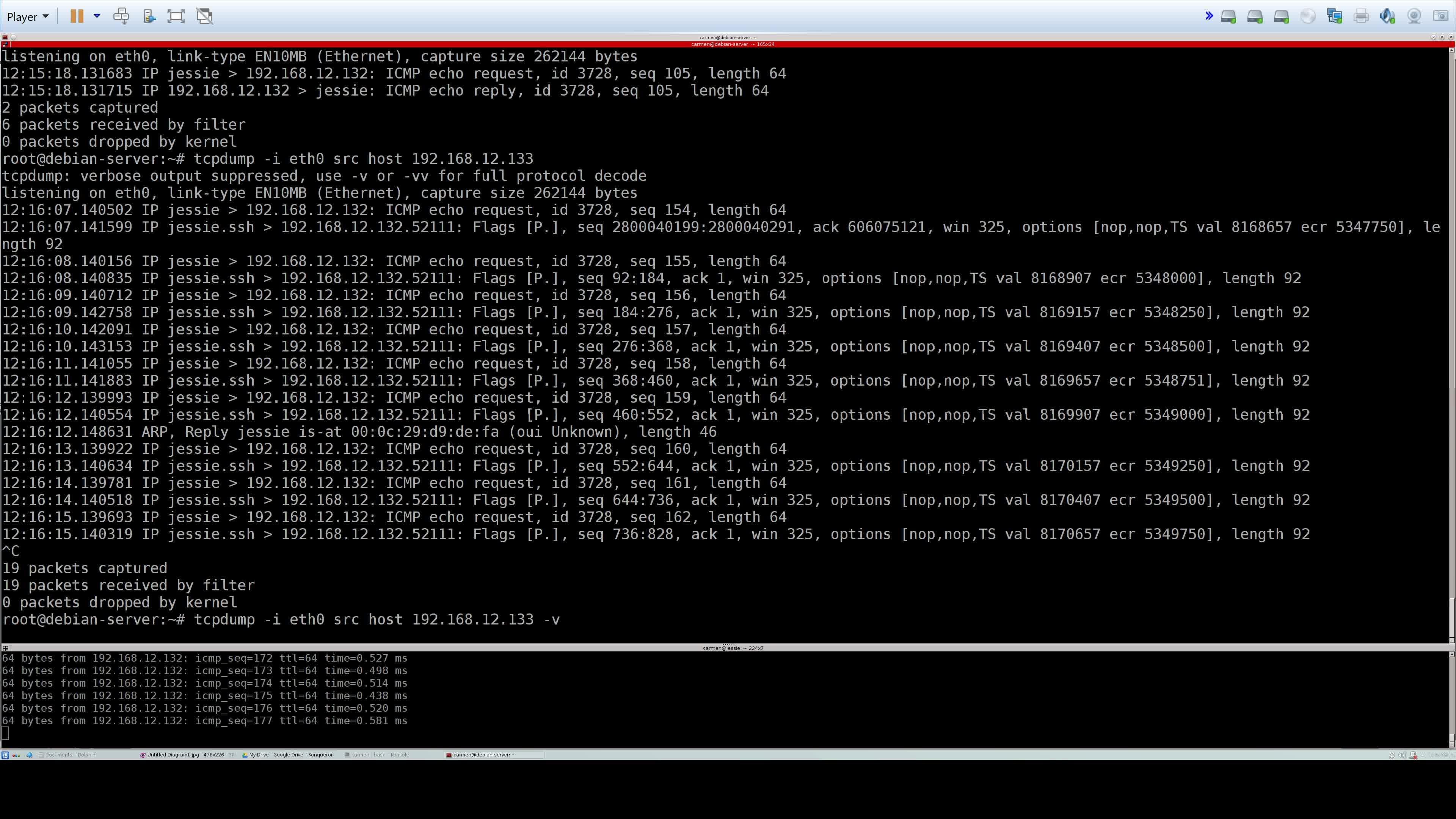Install Tcpdump Debian