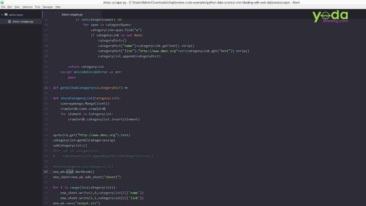 Python: Extract, Manipulate and Analyze Data with 5 Projects   Yoda
