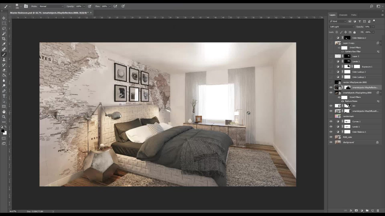 Depth of Field, Smart Objects and Organising Assets in 3ds Max, Vray