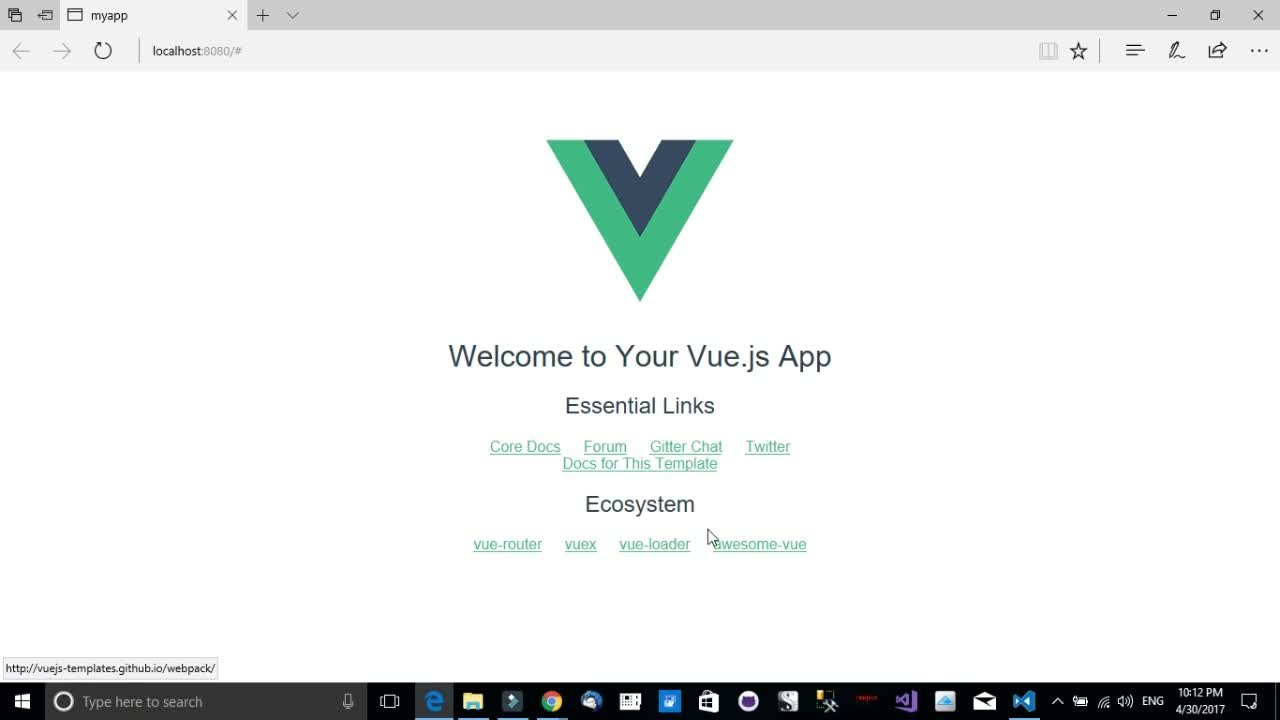 Vue.JS with Visual Studio Code