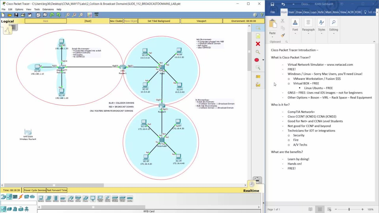 Cisco Packet Tracer Network Simulator Keith Gebhardt Skillshare Diagram