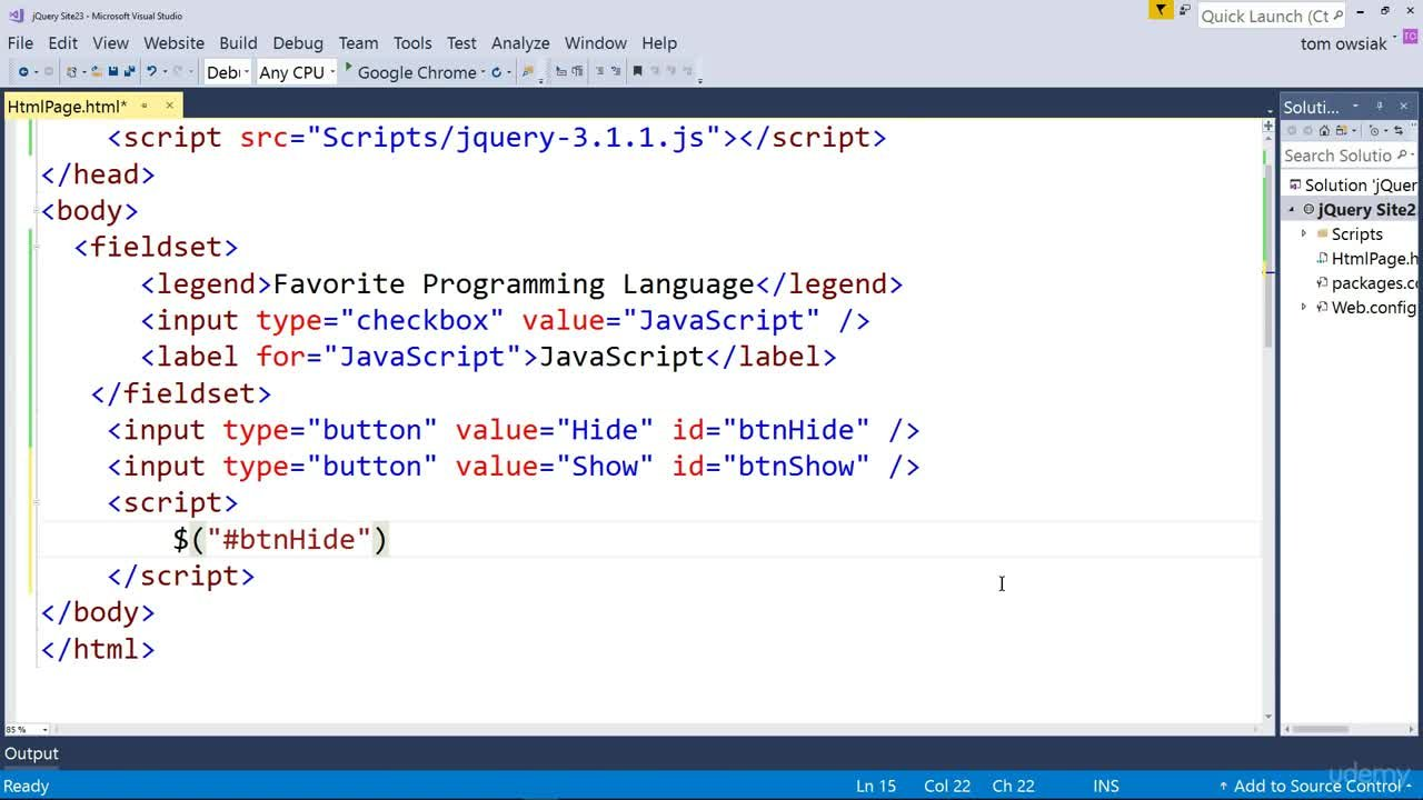 Learn jQuery with Visual Studio 2017 | Tom Owsiak | Skillshare