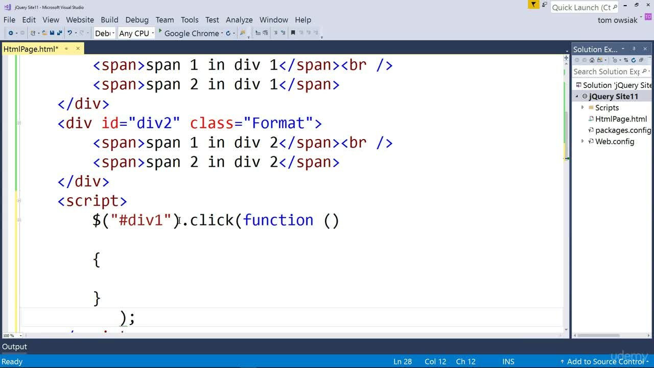 Learn jQuery with Visual Studio 2017 | Tom Owsiak | Skillshare