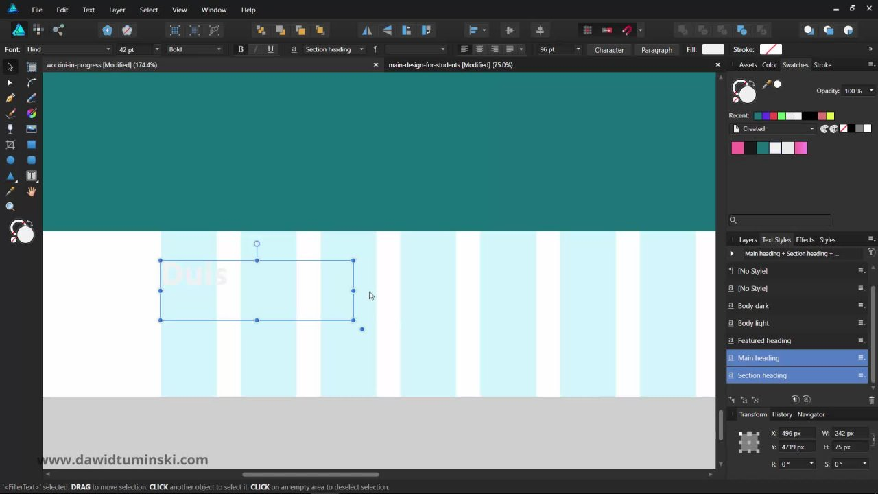 Web Design in Affinity Designer for Beginners and Beyond | Dawid