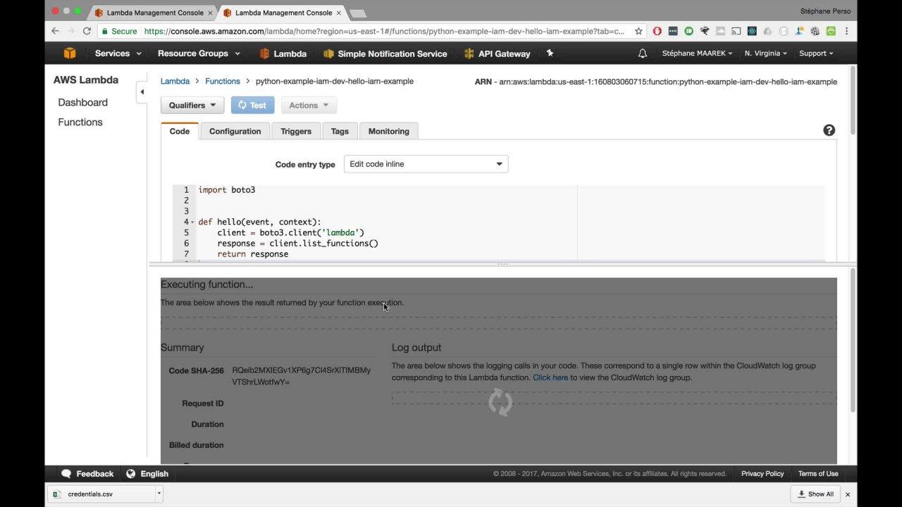 Boto3 Invoke Lambda Example