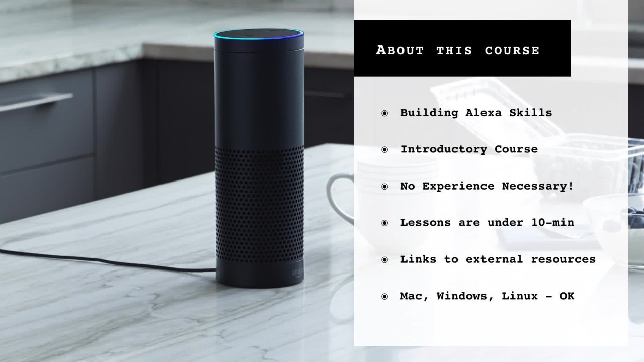 Alexa Skills Development 101