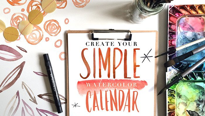 Design Your Calendar : Create your simple watercolor calendar amarilys