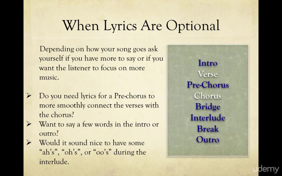 Your Enlightened Guide To Lyrics & Songwriting (FULL COURSE