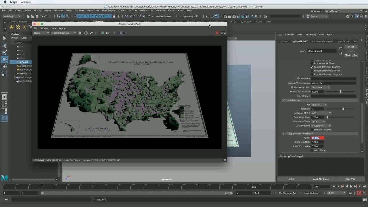 3D Animation & Data Visualization in Autodesk Maya | Lucas Ridley