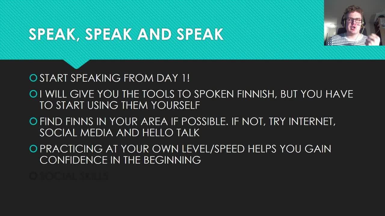 Basics of Spoken Finnish - Speak Finnish Like a BOSS | Aleksi Linna