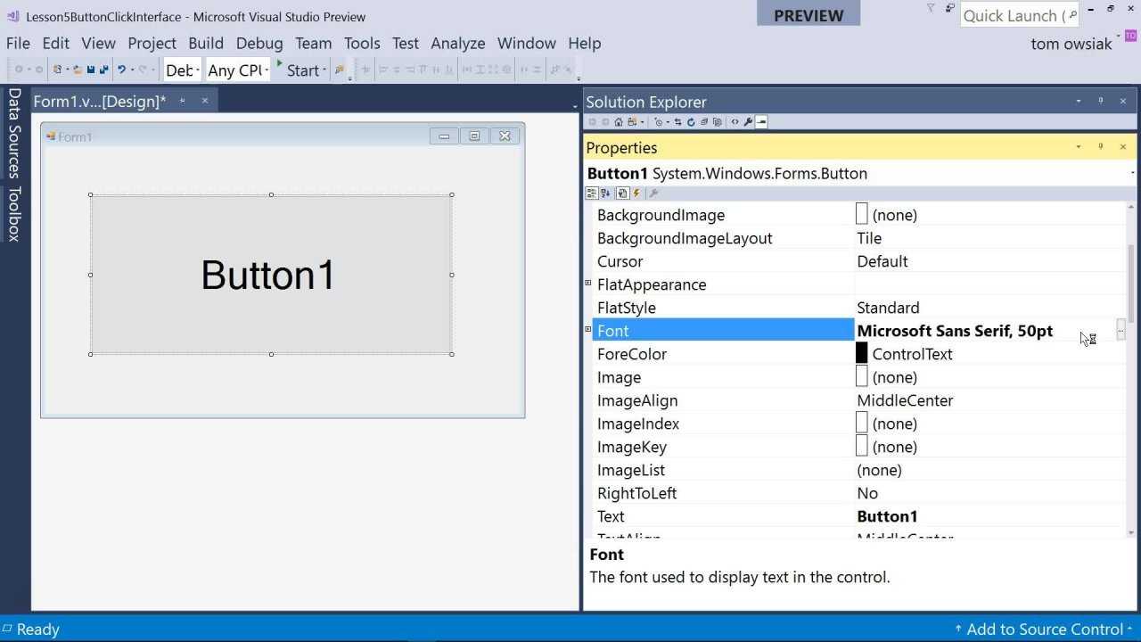 VB NET with Visual Studio 2017, Early OOP, Connections to C#