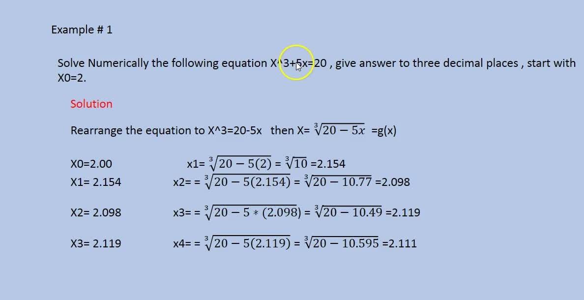 Numerical Methods part -2