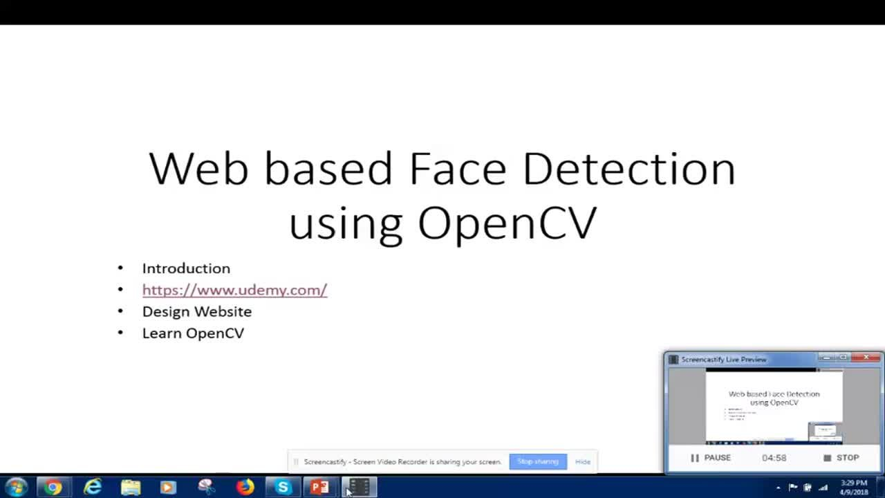 Opencv Pause Video