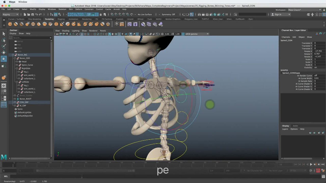 Maya for Beginners: Rigging | Lucas Ridley | Skillshare