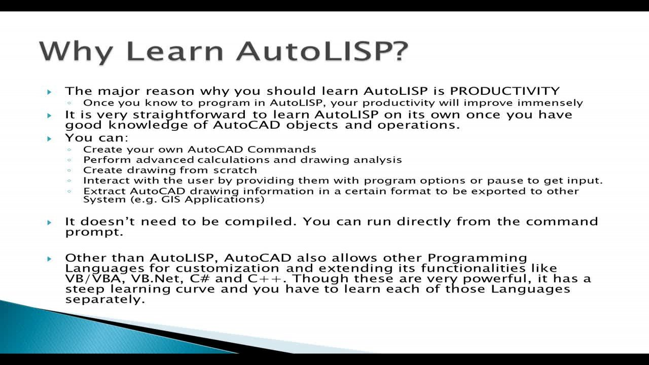 Practical AutoLISP Programming - Beginner to Advanced | Arnold H