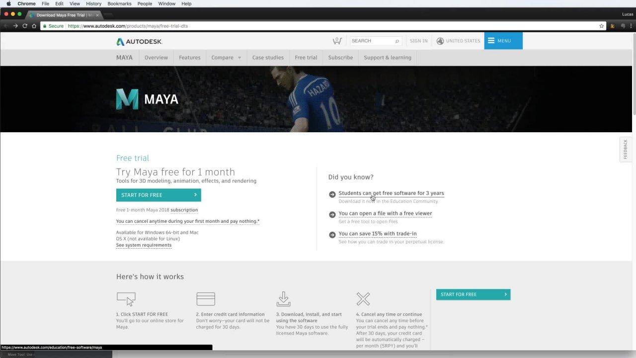 maya free version download