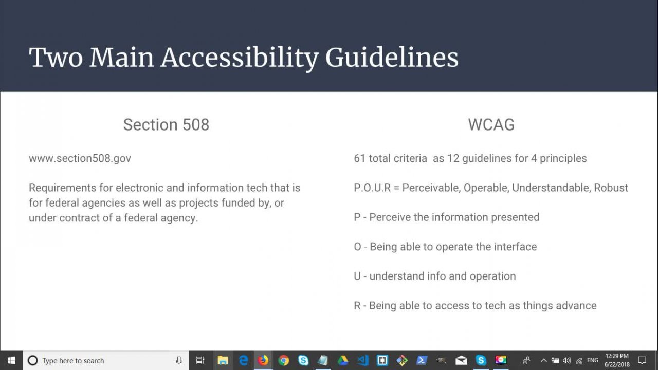 Meeting Accessibility Guidelines w/ HTML5