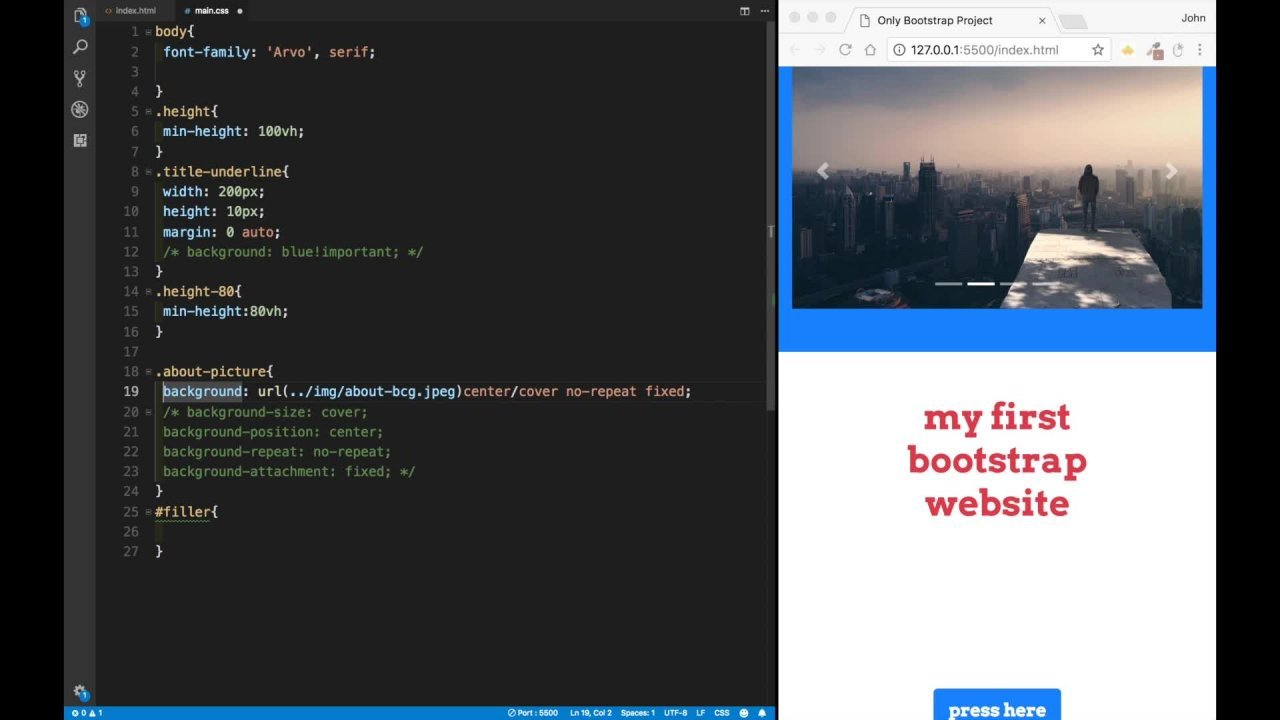 Bootstrap 4 Tutorial and Ultimate Projects Course | John Smilga