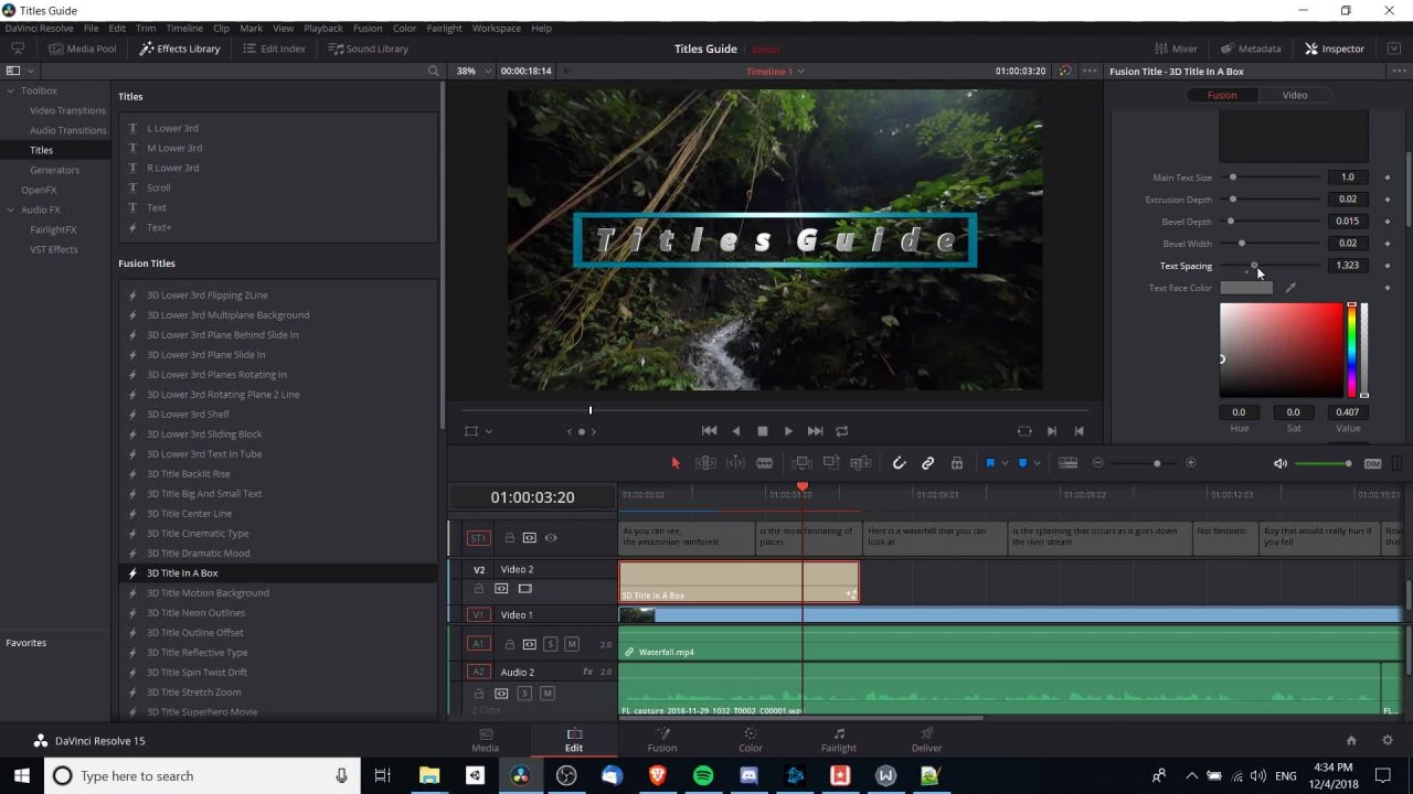 Complete DaVinci Resolve 15 Video Editing | Christopher Navarre